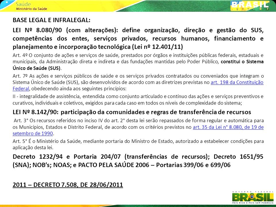 BASE LEGAL E INFRALEGAL: