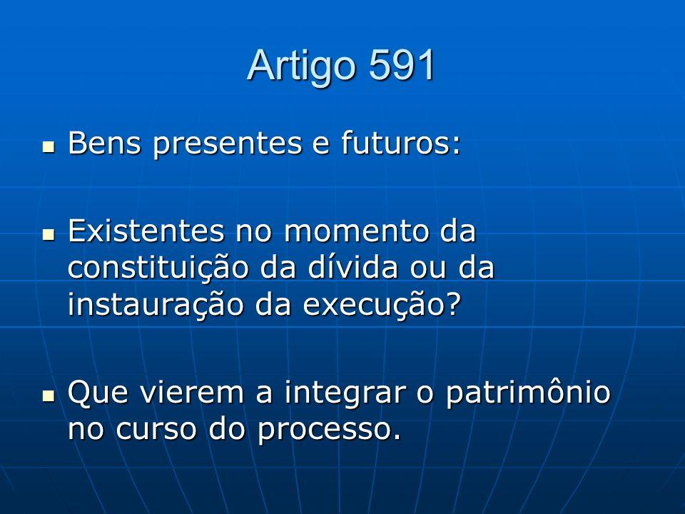 Artigo 591 Bens presentes e futuros: