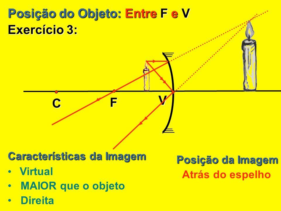 Posição do Objeto: Entre F e V Exercício 3: