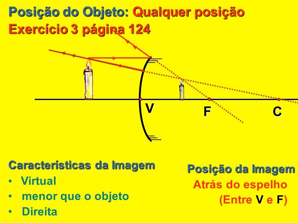 Posição do Objeto: Qualquer posição Exercício 3 página 124