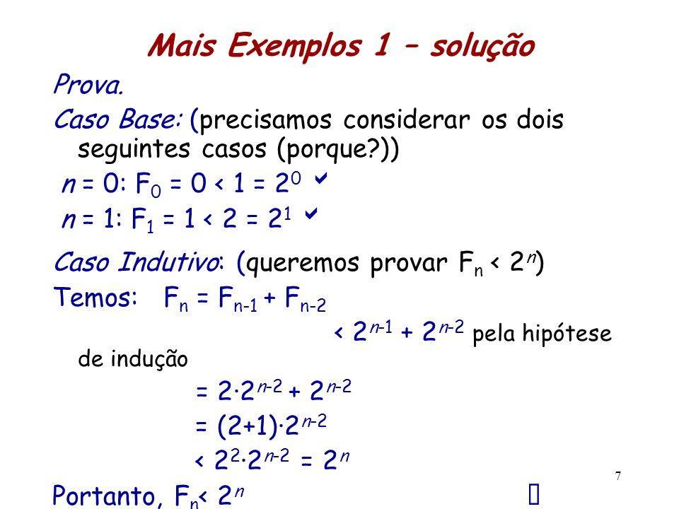 Mais Exemplos 1 – solução