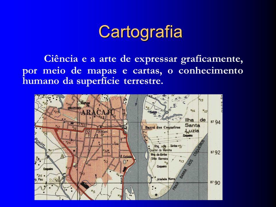 CartografiaCiência e a arte de expressar graficamente, por meio de mapas e cartas, o conhecimento humano da superfície terrestre.