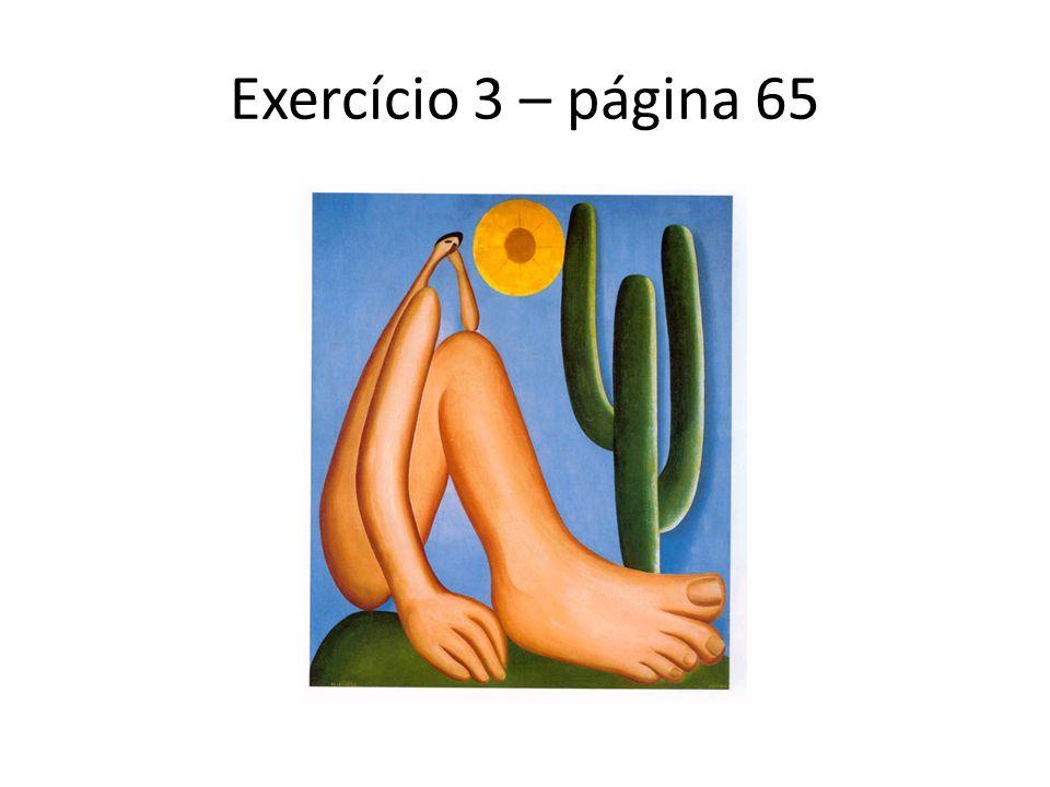 Exercício 3 – página 65