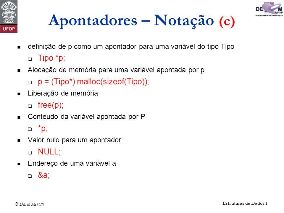 Apontadores – Notação (c)