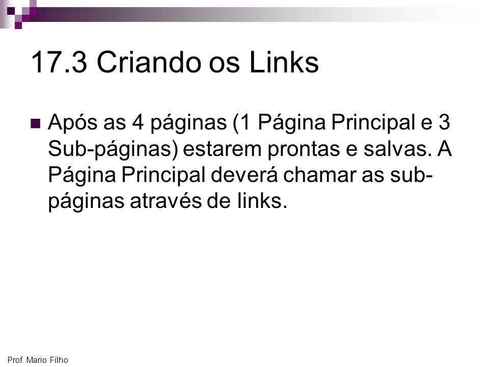 17.3 Criando os Links