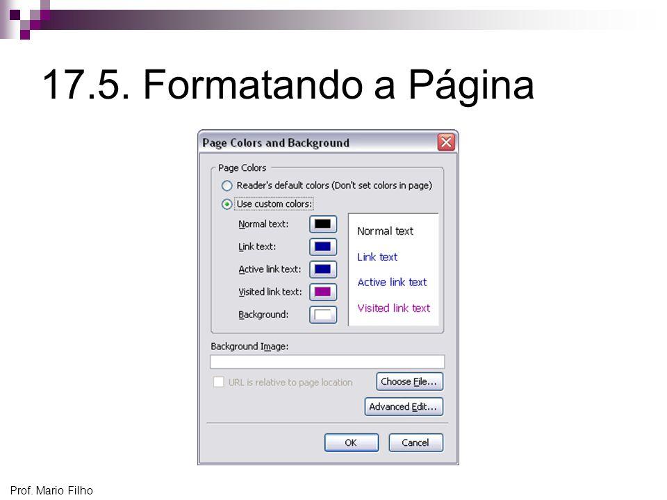 17.5. Formatando a Página Prof. Mario Filho