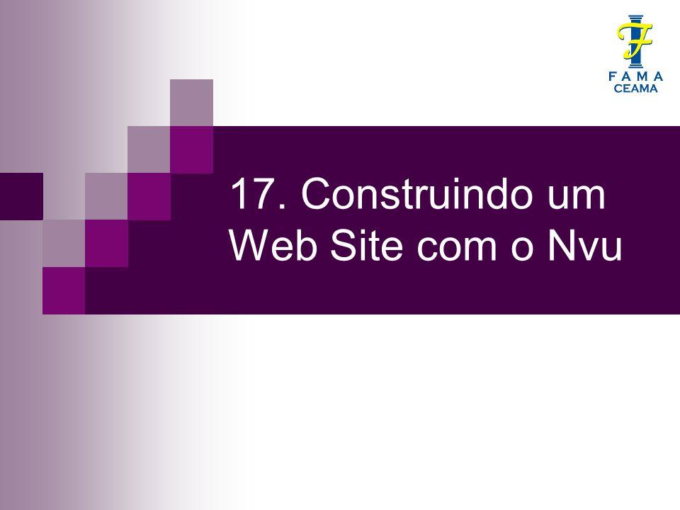17. Construindo um Web Site com o Nvu