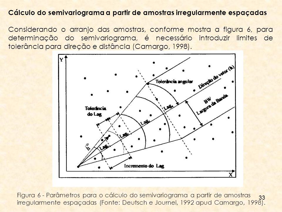 Cálculo do semivariograma a partir de amostras irregularmente espaçadas