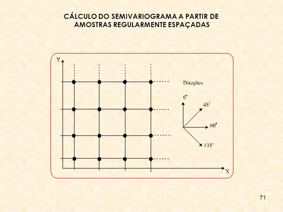 CÁLCULO DO SEMIVARIOGRAMA A PARTIR DE AMOSTRAS REGULARMENTE ESPAÇADAS