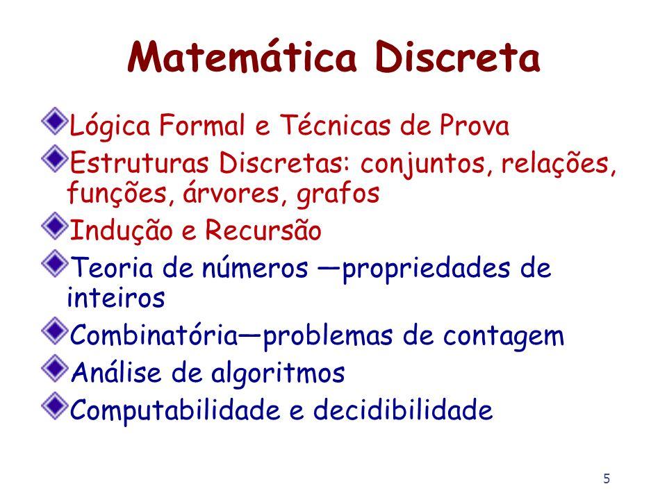 Matemática Discreta Lógica Formal e Técnicas de Prova
