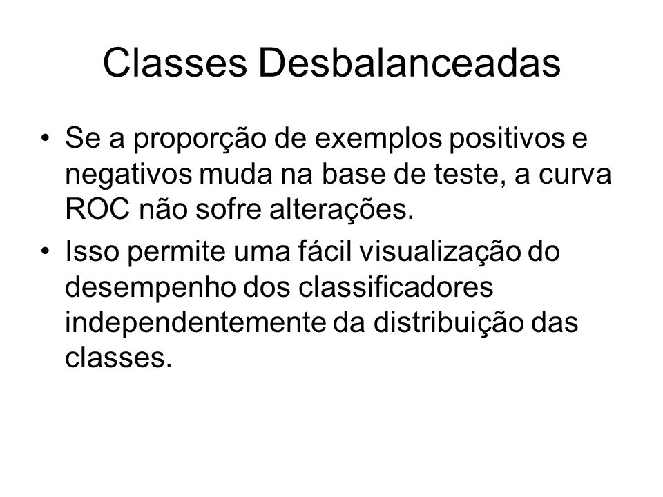Classes Desbalanceadas
