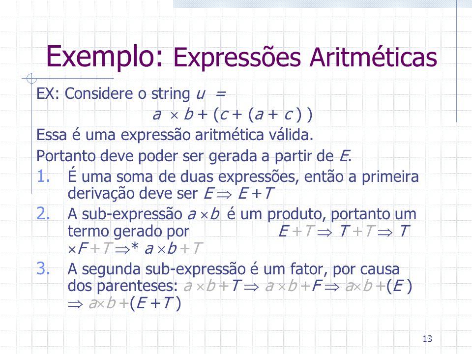 Exemplo: Expressões Aritméticas