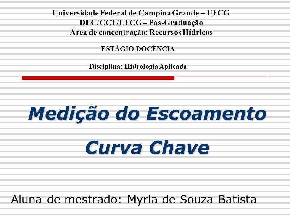 Medição do Escoamento Curva Chave