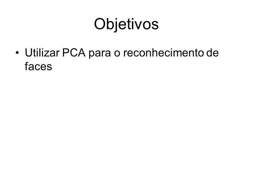 Objetivos Utilizar PCA para o reconhecimento de faces