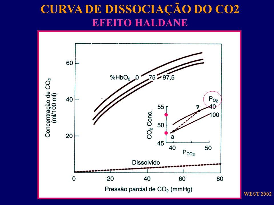 CURVA DE DISSOCIAÇÃO DO CO2