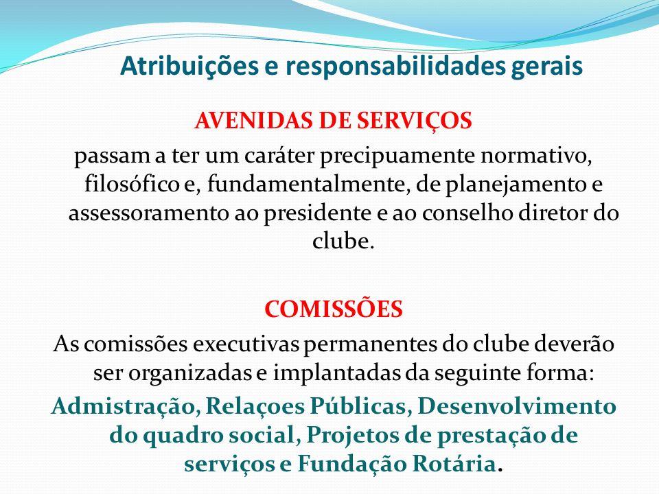 Atribuições e responsabilidades gerais