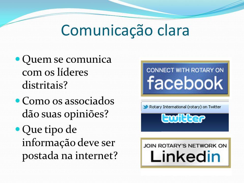 Comunicação clara Quem se comunica com os líderes distritais