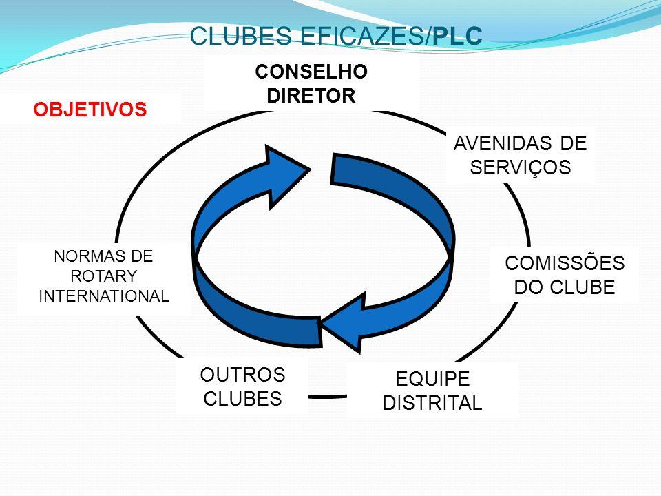 CLUBES EFICAZES/PLC CONSELHO DIRETOR OBJETIVOS AVENIDAS DE SERVIÇOS
