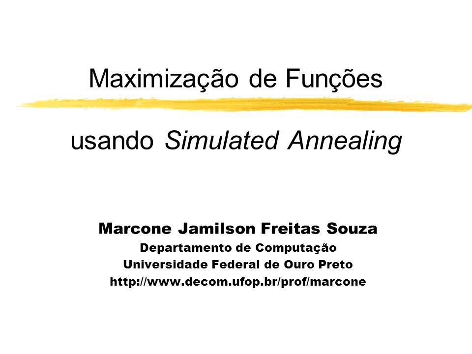 Maximização de Funções usando Simulated Annealing