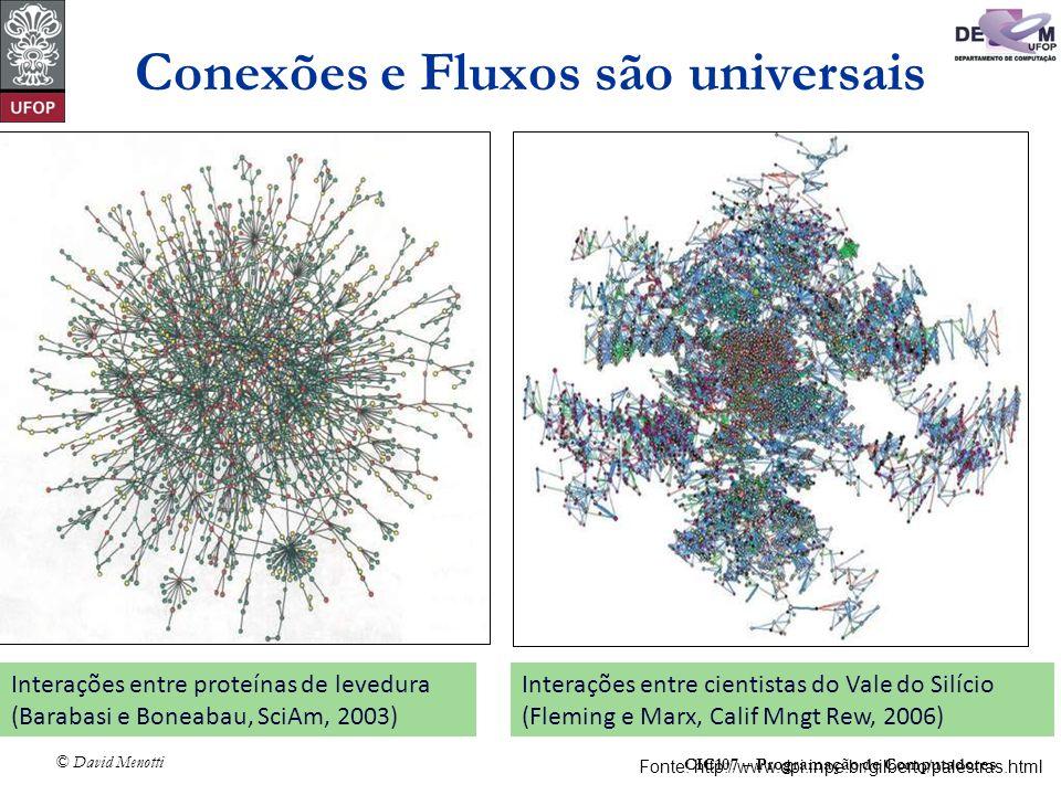 Conexões e Fluxos são universais