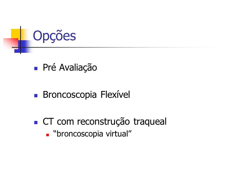 Opções Pré Avaliação Broncoscopia Flexível