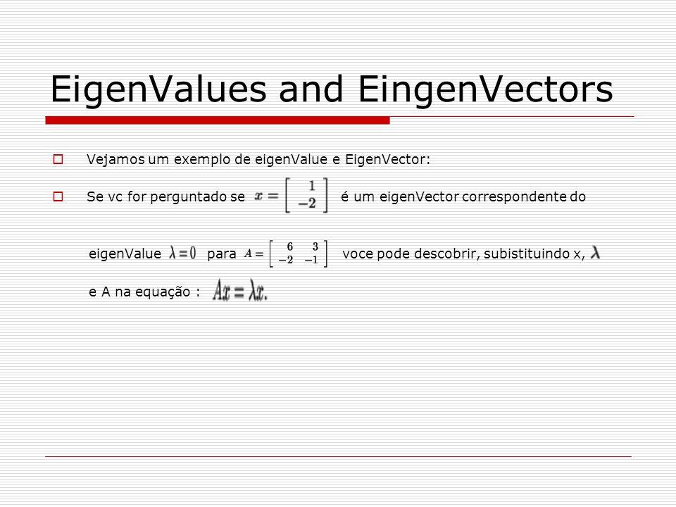 EigenValues and EingenVectors