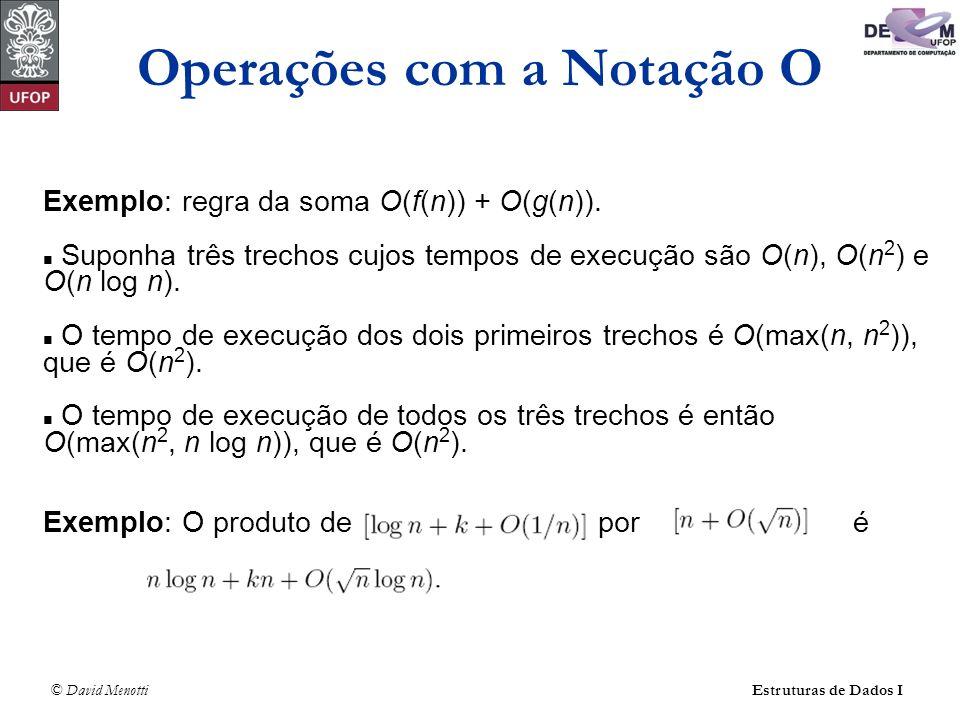 Operações com a Notação O
