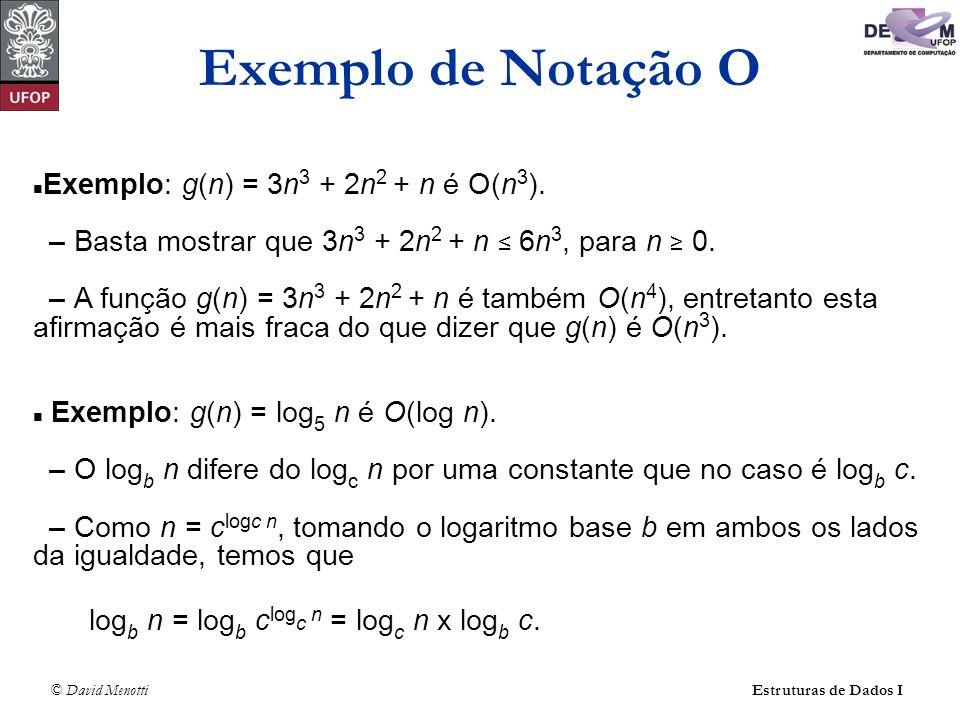 Exemplo de Notação O