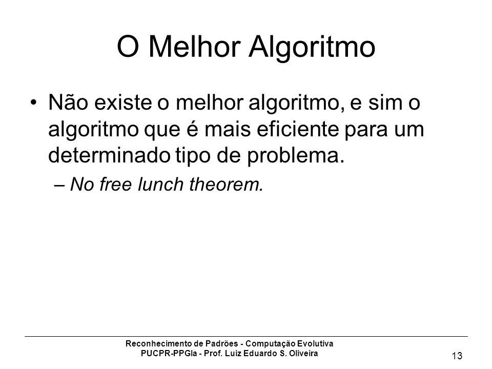 O Melhor AlgoritmoNão existe o melhor algoritmo, e sim o algoritmo que é mais eficiente para um determinado tipo de problema.