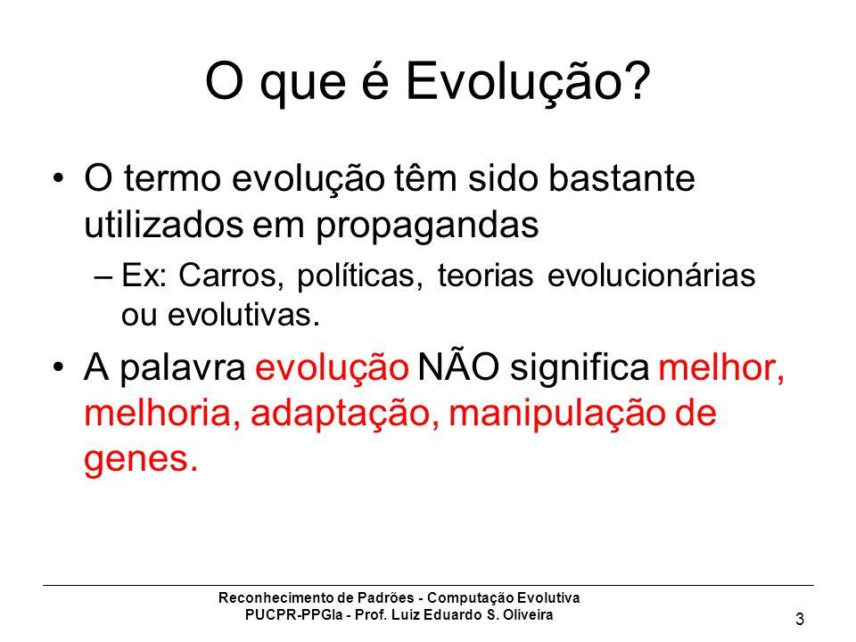 O que é Evolução O termo evolução têm sido bastante utilizados em propagandas. Ex: Carros, políticas, teorias evolucionárias ou evolutivas.