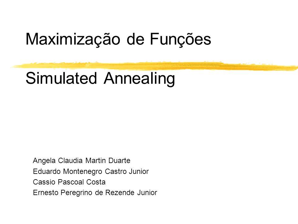 Maximização de Funções Simulated Annealing