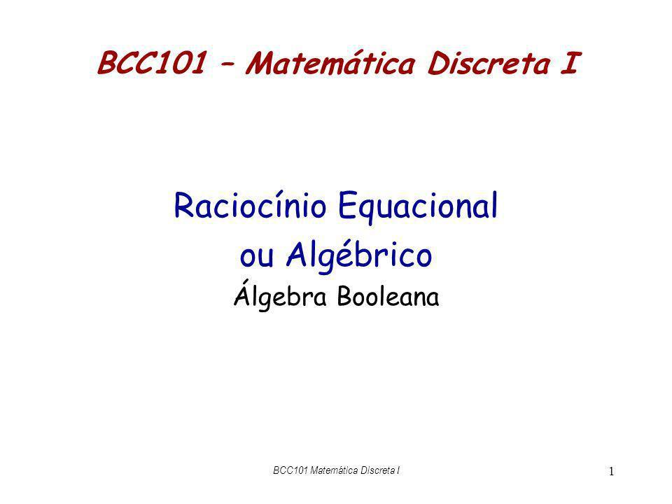 BCC101 – Matemática Discreta I