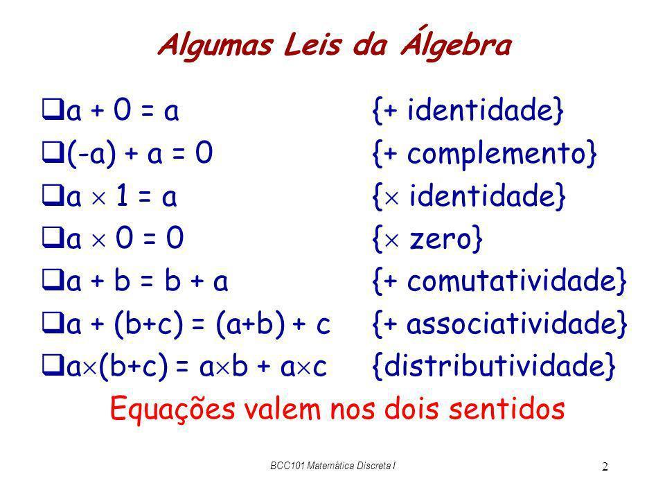 Algumas Leis da Álgebra