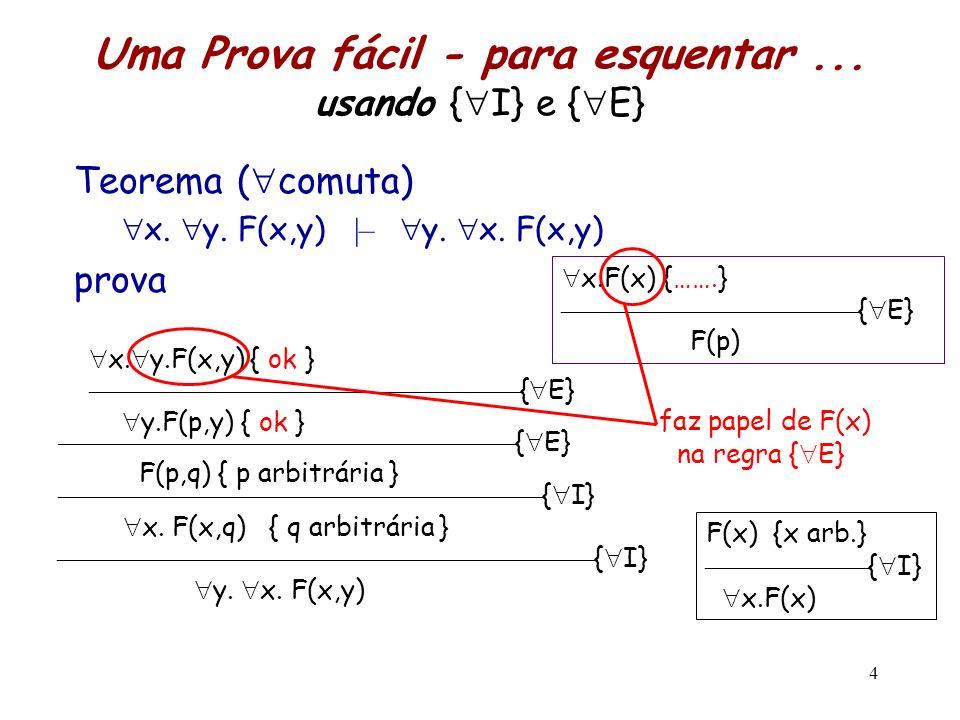 Uma Prova fácil - para esquentar ... usando {I} e {E}