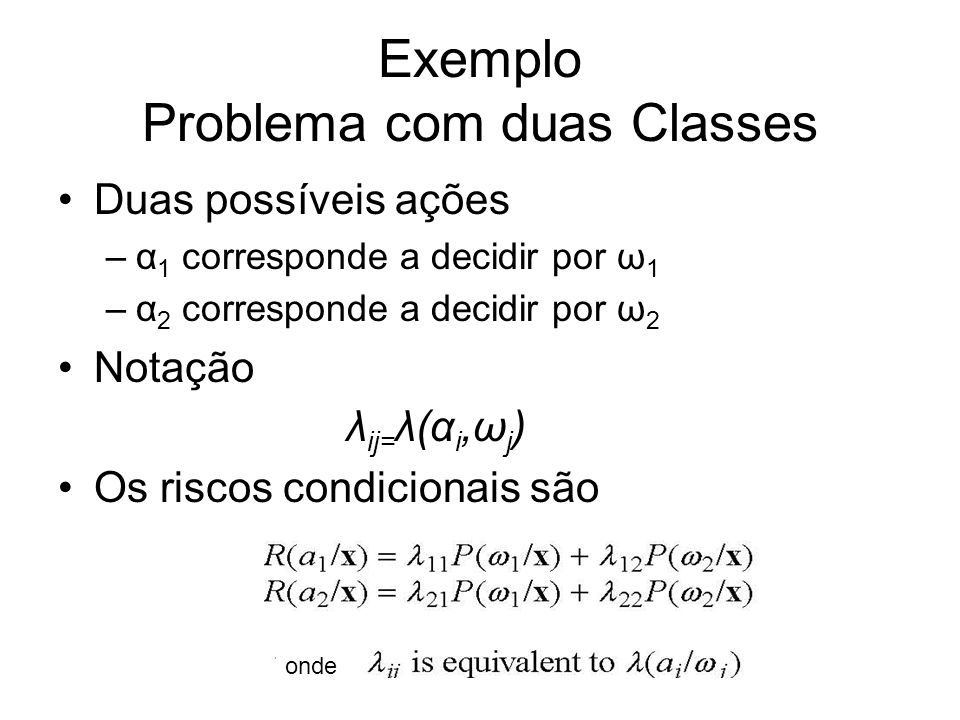 Exemplo Problema com duas Classes