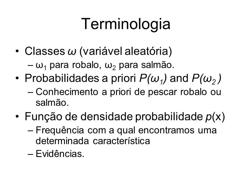 Terminologia Classes ω (variável aleatória)