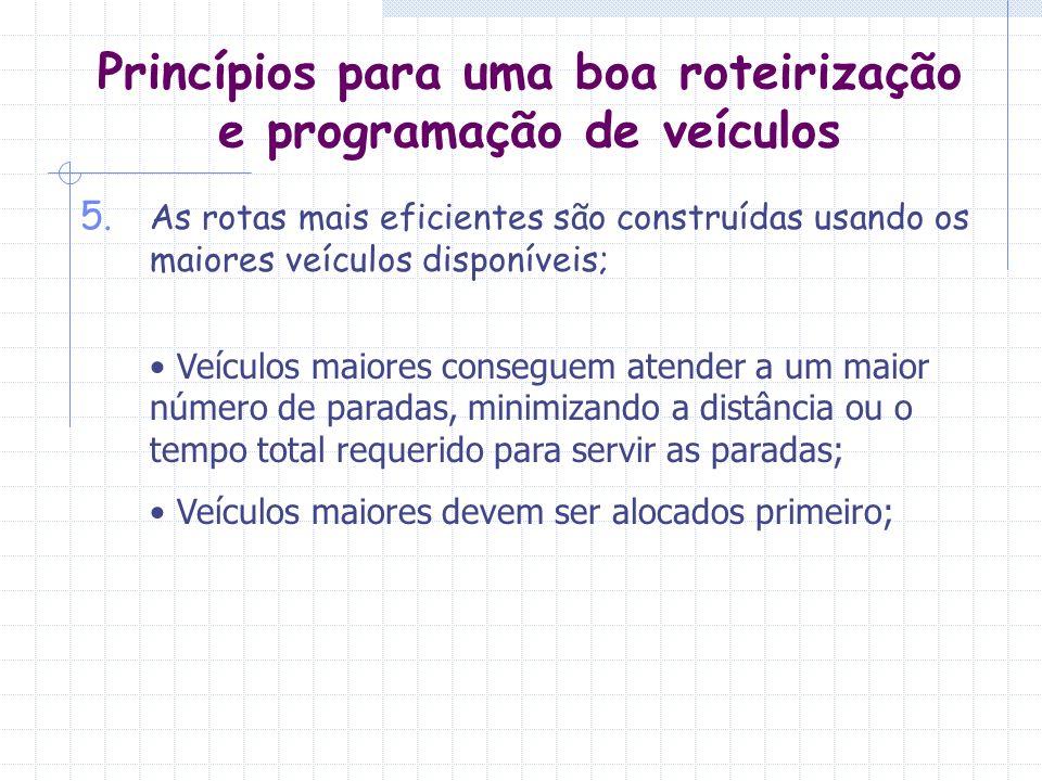 Princípios para uma boa roteirização e programação de veículos
