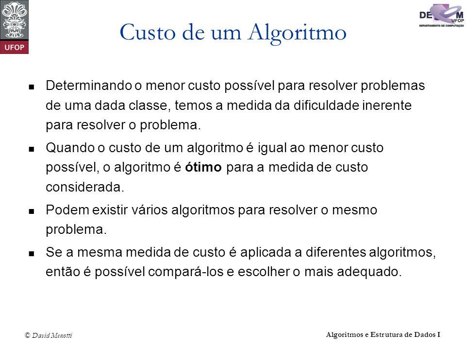 Custo de um Algoritmo