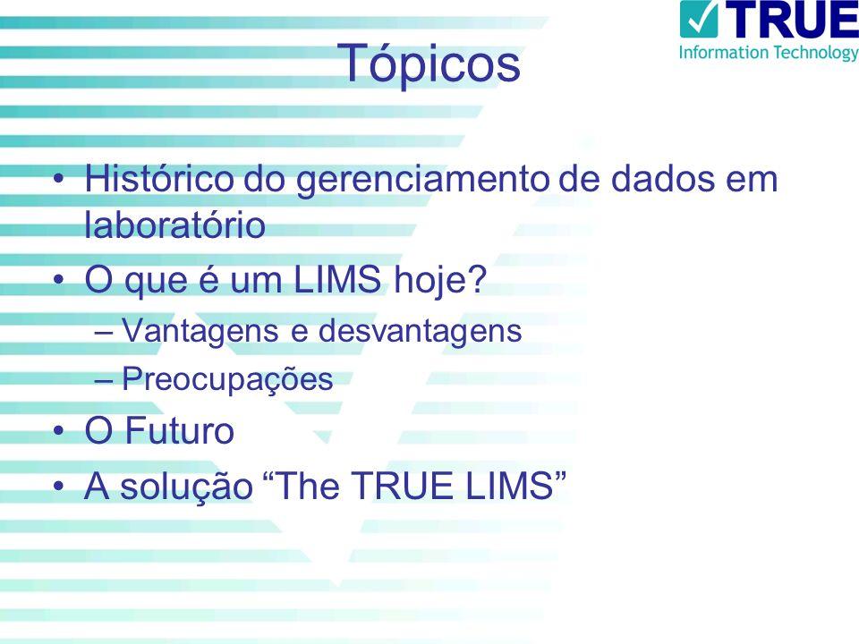 Tópicos Histórico do gerenciamento de dados em laboratório