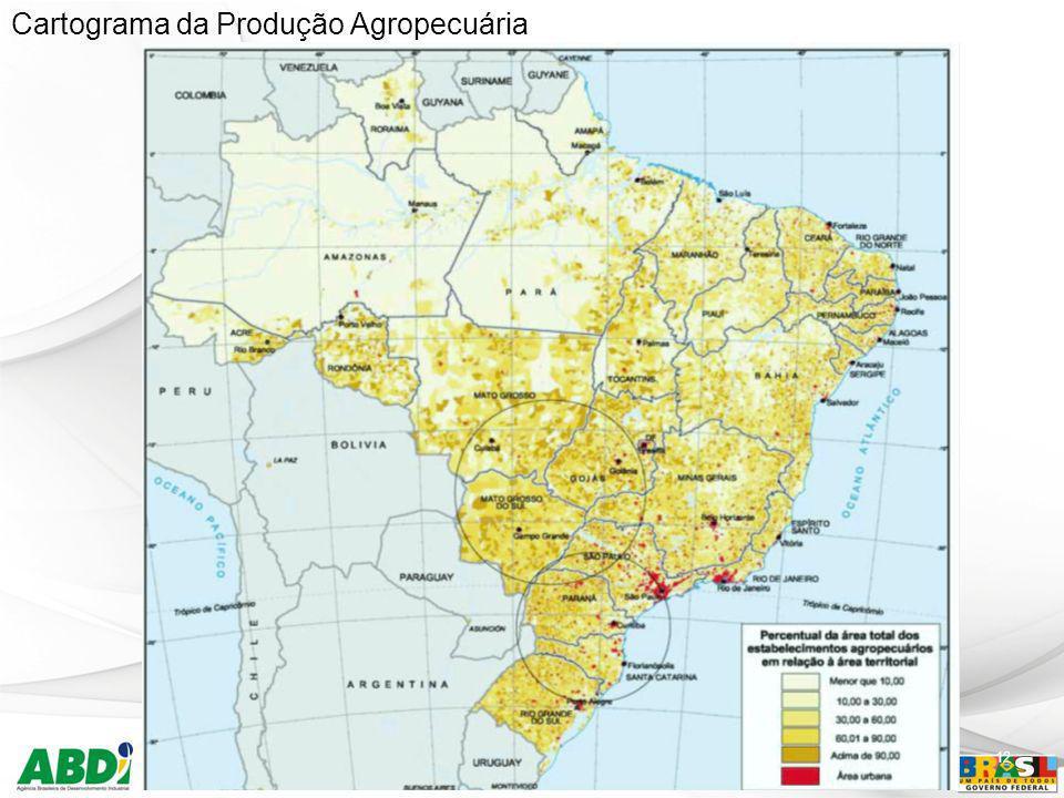 Cartograma da Produção Agropecuária