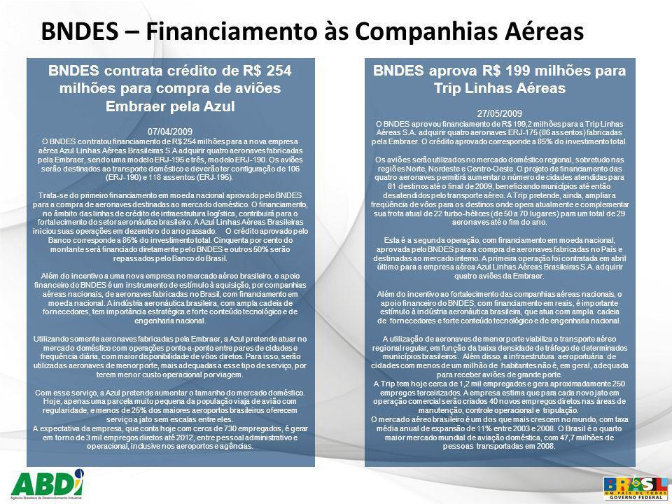 BNDES aprova R$ 199 milhões para Trip Linhas Aéreas