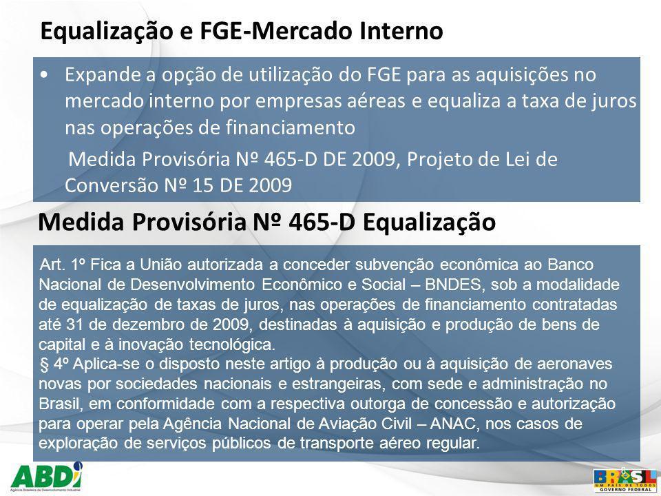 Equalização e FGE-Mercado Interno