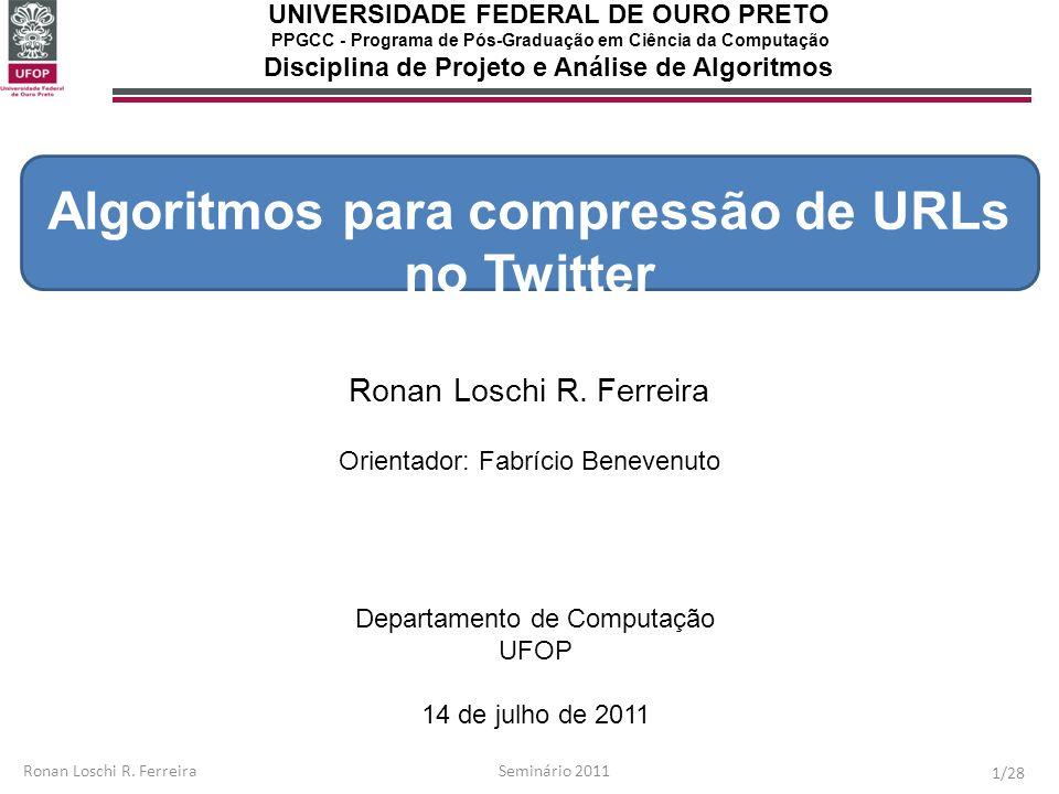 Algoritmos para compressão de URLs no Twitter