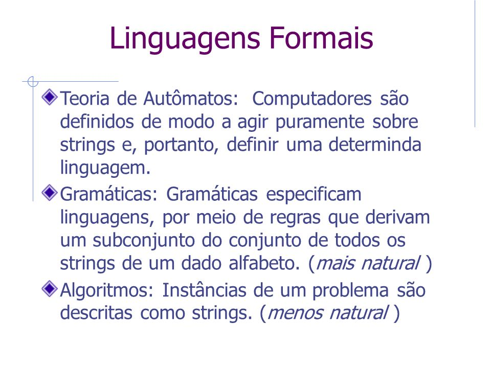 6 Linguagens Formais.