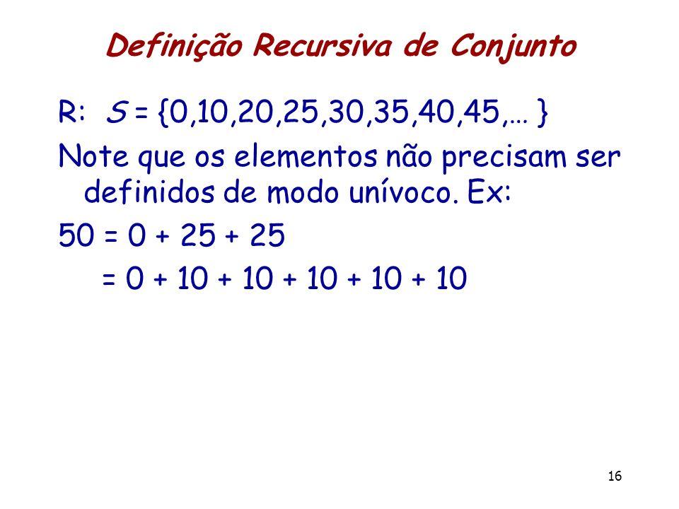 Definição Recursiva de Conjunto