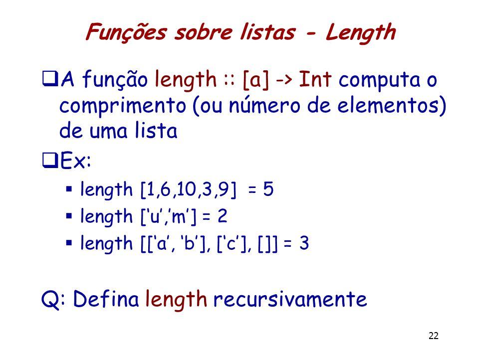 Funções sobre listas - Length