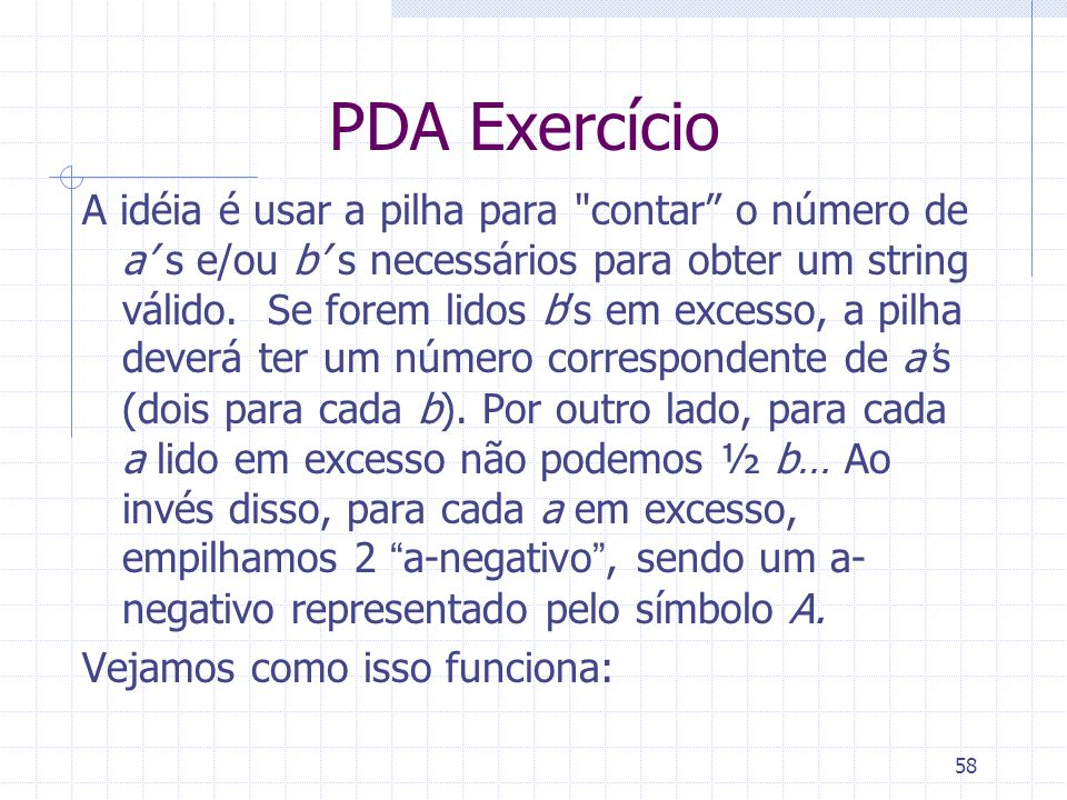 PDA Exercício