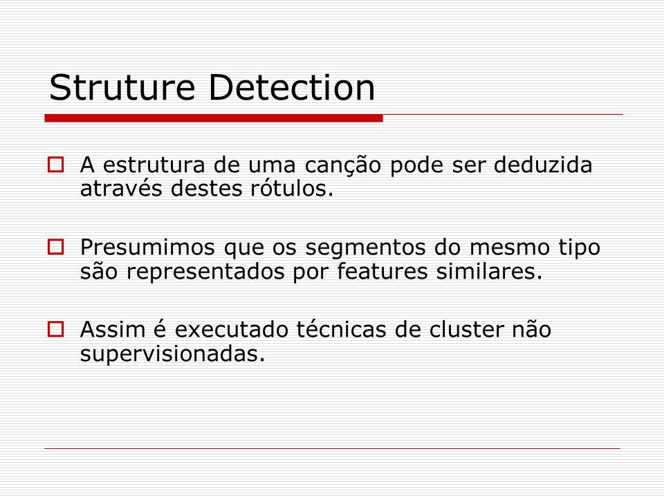 Struture Detection A estrutura de uma canção pode ser deduzida através destes rótulos.