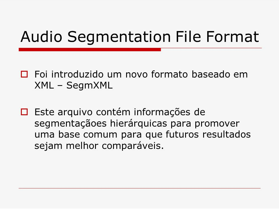 Audio Segmentation File Format