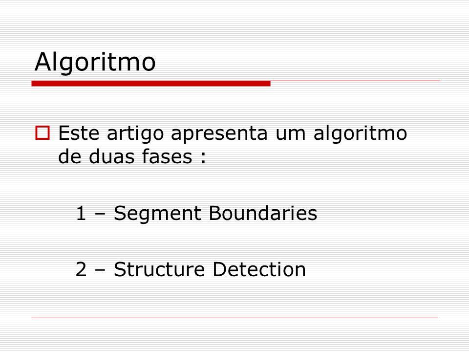 Algoritmo Este artigo apresenta um algoritmo de duas fases :